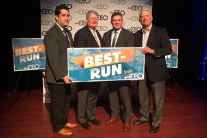 Cordia Accepting Best Run Company Award